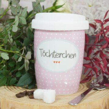 Mea Living Coffee To Go Becher mit Deckel Töchterchen