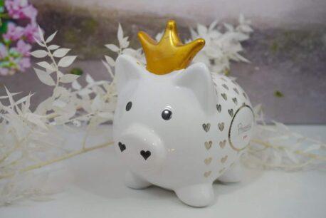 Mea Living Spardose Glücksschwein Prinzessin