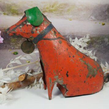 Metall Hund Vintage Blechfigur Unikat 2