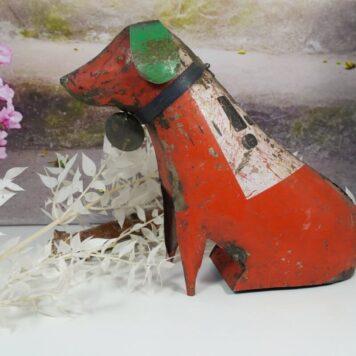 Metall Hund Vintage Blechfigur Unikat