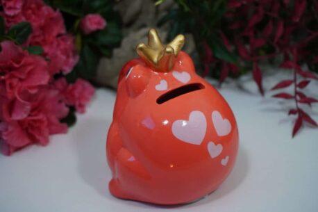 Pomme Pidou Freddy Spardose Orange Herz