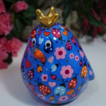 Pomme Pidou Spardose Petite Vogel Fiona Blue Marie