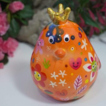 Pomme Pidou Spardose Petite Vogel Fiona Orange