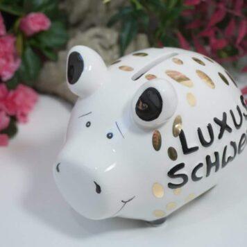 Spardose Luxus Schweinchen