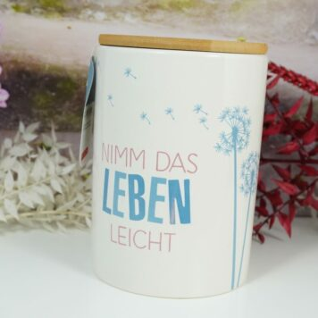 Vorratsdose Keramikdose 1 L Nimm Das Leben Leicht