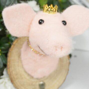 Baden Garderobe Kleiderhaken Schweinchen mit Krone