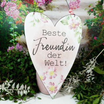 Deko Blechschild Beste Freundin der Welt!