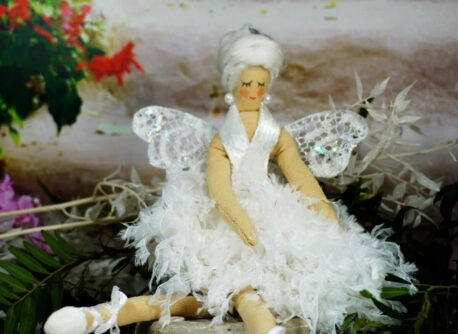 Deko Figur Dekoration Schutzengel Silber Flügel