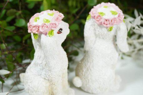 Dekofigur Osterhase Blumenhäschen Osterdeko