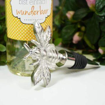 Flaschenverschluss Weinverschluss Biene Aluminium 12,5cm
