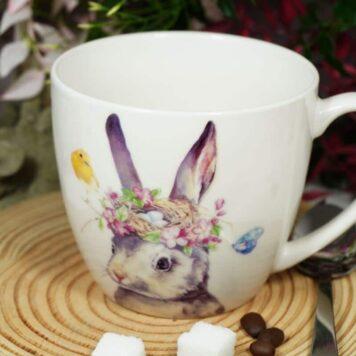 Henkelbecher Sprüche Kaffeetasse Häschen Tasse