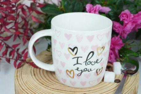 Henkelbecher Sprüche Kaffeetasse I love you
