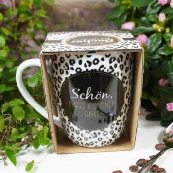 Henkelbecher Sprüche Kaffeetasse Schön, Dass Es Dich gibt