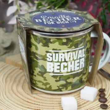 LaVida Emaille Becher für dich Survival