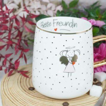 Mea Living Henkelbecher Kaffeetasse Beste Freundin