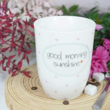 Mea Living Henkelbecher Kaffeetasse Good morning sunshine