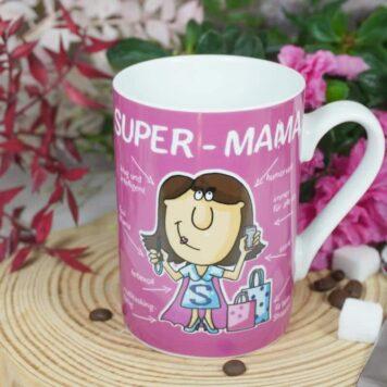 PPD Henkelbecher Kaffeebecher Super Mama