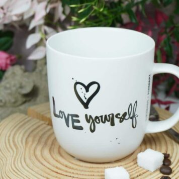 PPD Henkelbecher Kaffeebecher Love yourself