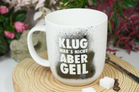 PPD Henkelbecher Sprüche Tasse Klug War's Nicht Aber Geil