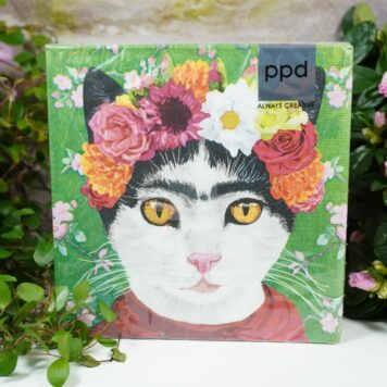 Servietten PPD Flower Cat
