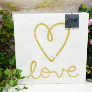 Servietten PPD Heart Love