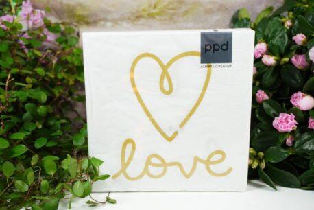 Servietten PPD Heart Love