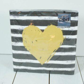 Servietten PPD Gold Heart