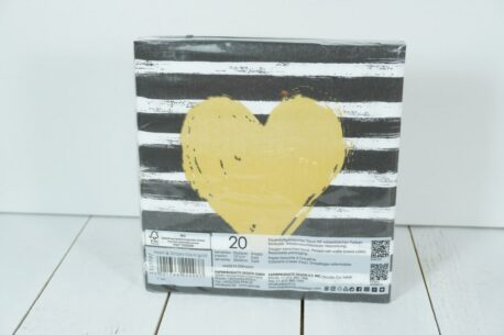 Servietten PPD Gold Heart