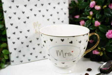Servietten White Mr. & Mrs.