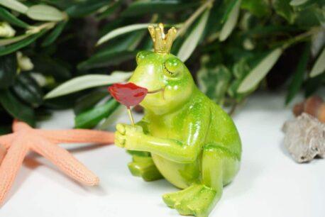 Dekofigur Frosch Ich schenk dir eine Rose