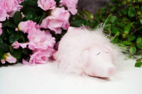 Dekofigur Schweinchen Liegend Rosa Little