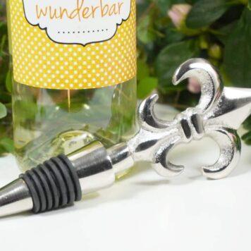 Flaschenverschluss Weinverschluss französische Lilie Aluminium 16cm