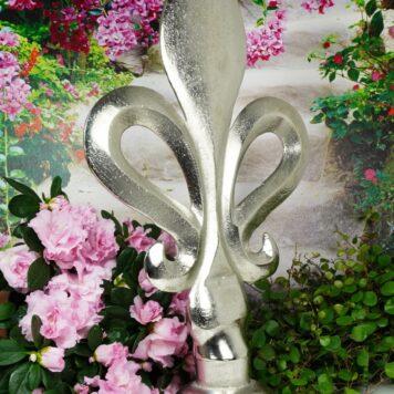 Französische Lilie Dekofigur Fleur-de-Lis Aluminium