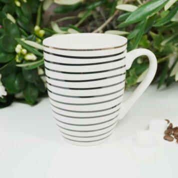 Henkelbecher Sprüche Kaffeetasse Gold Ring