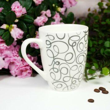 Henkelbecher Sprüche Kaffeetasse Grey Line