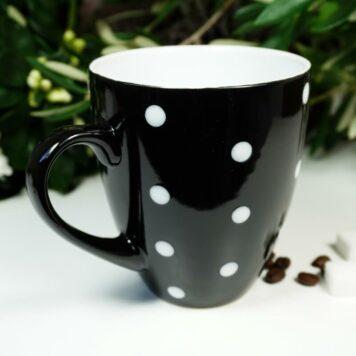 Henkelbecher Sprüche Kaffeetasse White Pünktchen