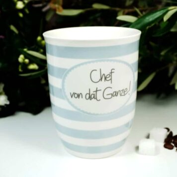 Mea Living Henkelbecher Kaffeetasse Chef von dat Ganze!