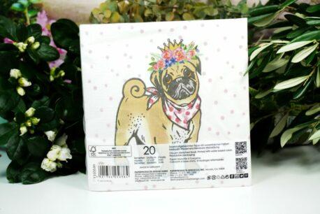 Servietten PPD Bulli Flower Dog
