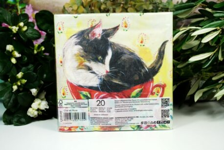 Servietten PPD Cup Cat Flower