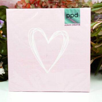 Servietten PPD Gold Heart Rosa