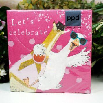 Servietten PPD Let's celebrate