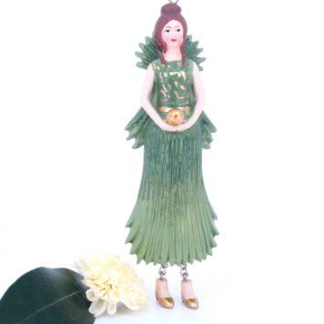 Deko Figur Blumenmädchen Hanfpalmenblattmädchen zum Hängen