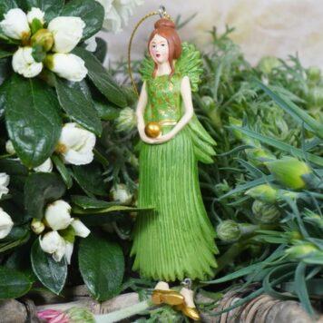 Deko Figur Dekohänger Blumenmädchen Goldkugel