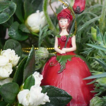 Deko Figur Dekohänger Blumenmädchen Röschen