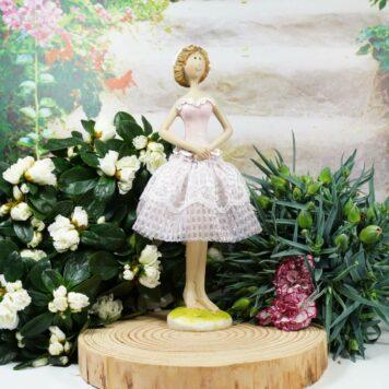 Dekofigur Blütenfee Fee Blumenmädchen Kleine Lady