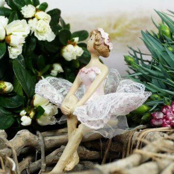 Dekofigur Kantenhocker Blütenfee Fee Blumenfee Elfe Blumenmädchen