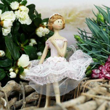 Dekofigur Kantenhocker Blütenfee Fee Blumenfee Elfe Blumenmädel