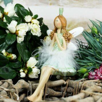 Dekofigur Kantenhocker Blütenfee Fee Blumenfee Elfe Feenprinzessin