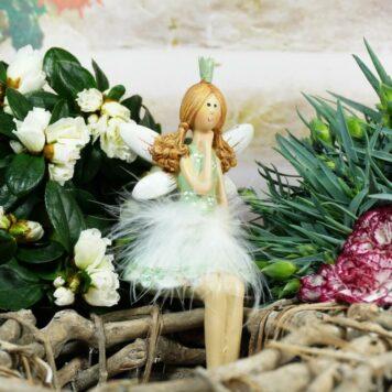 Dekofigur Kantenhocker Blütenfee Fee Blumenfee Elfe Little Princess