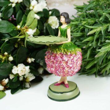 Dekofigur Teelichthalter Blumenmädchen Blütenfee Geranchen